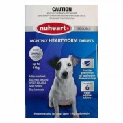 Nuheart Generic Heartgard (Blue) for Small Dogs upto 25lbs 6 Tablet