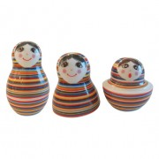 Babushka Doll Salt & Pepper Shaker Stripes