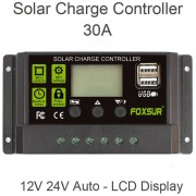 FOXSUR 30un controlador de carga automático Controladores PWM de Panel Solar PV regulador