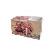 Cutie bijuterii din lemn cu suport - 006