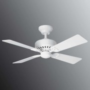 Hunter Bayport ceiling fan, white/light oak