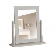 Baroque 1 Drawer Dressing Table (Available in White, Dark Coffee & Grey) - Table, Stool & Mirror (Grey)