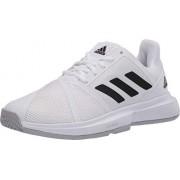 Adidas Courtjam Bounce W Zapatillas Anchas para Mujer, FTWR Blanco/Core Negro/Mate Plata, 10