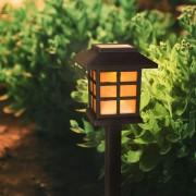 4 db Kerti napelemes LED Greg világítás 29 cm – pislákoló effektel