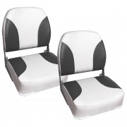 Капитански седалки за моторна лодка или яхта [pro.tec]®, 2 броя, Сиви/Бели