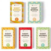 Sight Word Flash Cards Bundle Kit (Preschool, Kindergarten, 1st, 2nd & 3rd Grade) for Kids Ages 3 to 9 Years Old by Think Tank Scholar - 500+ Words to Learn in The Complete Box Set!