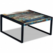 vidaXL Coffee Table Solid Reclaimed Wood 80x80x40 cm