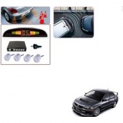 Auto Addict Car Silver Reverse Parking Sensor With LED Display For Mitsubishi Lancer