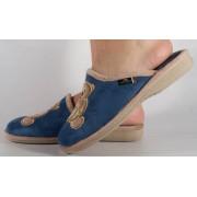 Papuci de casa albastri din plus dama/dame/femei (cod PATTY)