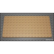 LEGO LEGO City Town Aquazone Sports : Tan Baseplate 8 x 16 8x16 Studs x1 Loose