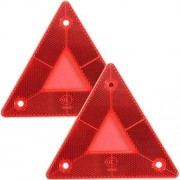 HECTAREBUY 2Pcs Triangular Side Red Reflectors for Car Truck Van Trailers Caravans Lorry Bu