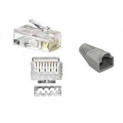 CAT6 / CAT7 Unshielded Connector + Boot + Insert 23-24AWG Cable up to 0.59mm conductor