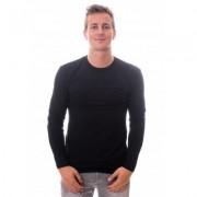 Claesens Longsleeve Round Neck Black (CL 1022) - Zwart - Size: Large