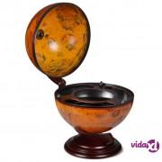 vidaXL Stolni Globus Bar Stalak za Vino Drveni