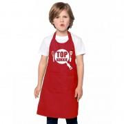 Bellatio Decorations Top kokkie kinderschort rood jongens en meisjes