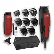 Машинка за подстригване с тример Wahl Home Pro 100 Combo, Червен, WAH.13950466