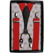 Tiekart Y- Back Suspenders for Men(Red)