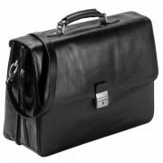 Dermata Serviette - Porte-documents cuir 42 cm compartiment ordinateur portable