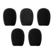 Mikrofon szivacs készlet 5 db-os fekete