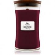 Woodwick Black Plum lumânare parfumată cu fitil din lemn 609,5 g