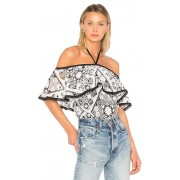 Alexis Isa Top in Black & White. - size XS (also in L,M,S)