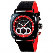 EOS New York Gauge Watch Black/Red 173SRED