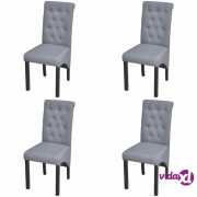 vidaXL Blagovaonske stolice od tkanine 4 kom svjetlosive