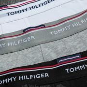 Tommy Hilfiger 3 Pack Trunks Black/ Grey Heather/ White