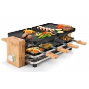 Raclette gril Princess 16 2910 Pure 8 Bamboo 42 x 23 cm