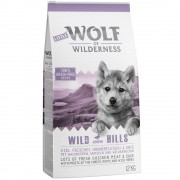 2x12kg Little Wolf of Wilderness Junior Wild Hills com frango ração