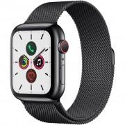Ceas Smartwatch Apple Watch Series 5, GPS + Cellular, 40mm Space Black Stainless Steel Case, Space Black Milanese Loop