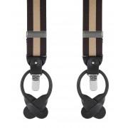 Luxus Hosenträger Dunkelblau-Beige - Beige