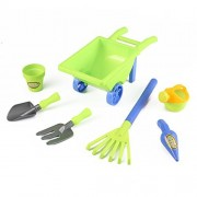 Little Gardener 7pc Toy Gardening Set with Pots, Water Pail and Wheelbarrow. Great for the beach!!