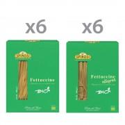 Spinosi 12 confezioni di pasta: 6 Fettuccine Bio 250 gr.- 6 Fettuccine integrali Bio 250 gr.