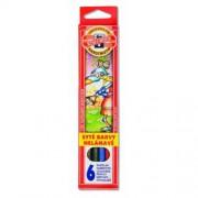 Creioane colorate 6 culori / set Koh-I-Noor EK3551-6