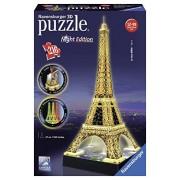 Ravensburger 3D Puzzles Eiffel Tower Night Edition, Multi Color (216 Pieces)