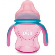 Pur Multi Grasp Drinking Cup 5 oz/150 ml Pink and Blue