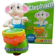 OH BABY BABY 3D LIGHT MUSICAL POWER WITH AUTOMATIC SENSOR OPPO ELEPHANT GREEN COLOR TOYS FOR YOUR KIDS SE-ET-10
