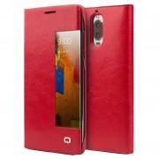 Huawei Mate 9 Pro, Mate 9 Porsche Design Qialino Smart View Flip Case - Red