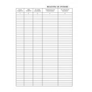 Registru intrare-iesire, A4, 80 g/mp, fata/verso, 3 carnete/set