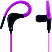 STREETZ HL-288, Sportheadset oordoppen met microfoon, 3,5 mm-connector, oorclip, antwoordknop, steeksleutel, 1,2 m kabel, roze / zwart
