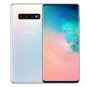 Samsung Galaxy S10+ Plus 512GB / 8GB RAM SM-G975F Hybrid/Dual SIM (solo GSM, sin CDMA) Smartphone desbloqueado de fábrica 4G/LTE versión internacional, blanco (Ceramic White)