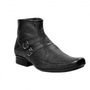 JK Port Men's Black Synthetic Leather Boot