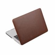 Husa din piele ecologica pentru MacBook Air 13-inch A1466 / A1369, maro
