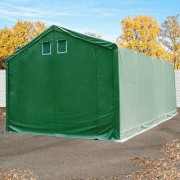 taltpartner.se Lagertält 4x8m PVC 550 g/m² mörkgrön vattentät