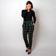 Pantaloni clasici în carouri 10199