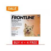 Frontline Top Spot Small Dogs 0-22 Lbs (Orange) 4 + 4 Free