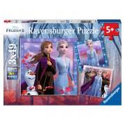 Puzzle Ravensburger Frozen II, 3x49 piese