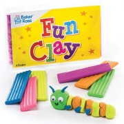 Baker Ross Modelling Clay - 5 Modelling Dough Packs Containing 6 Reusable Colours. Mess Free Kids Fun Clay. Size 6.5cm.