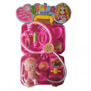 Halo Nation Doctor Suitcase Play Set with Baby, Pretend Play Toy Set - Pink